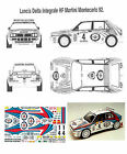 Lancia Delta HF MARTINI - Rally Montecarlo 92 - DECAL 1/24