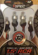 "Premium T-Spec RCA Cables V12GT Series Audio Cables Twisted OFC Flexible 18/"""