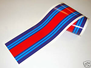 LE MANS MARTINI Race stripe 2 meters gloss laminated decal sticker Classic Race
