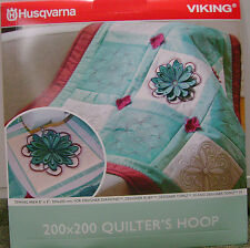 "Husqvarna Viking 8"" x 8"" Quilters Hoop 200 x 200 Embroidery for Designer Series"