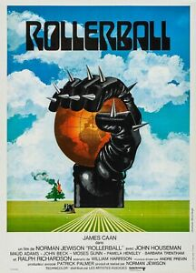 """ROLLERBALL 1975 REPRO FRENCH FILM POSTER 30X40"""" JAMES CAAN FREE P&P SCI-FI QUAD"""