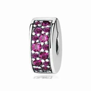 Silver Bead Charm Crystal Round Stopper For Fashion Bracelet 10 Colors