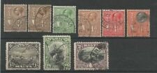 Cats 9 Number British Colony & Territory Stamps