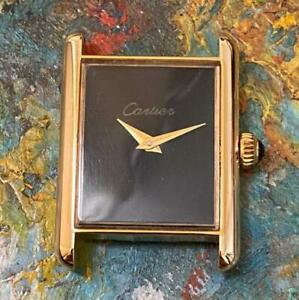 CARTIER MUST 18KT GOLD PLATED VINTAGE MID SIZE WATCH 100% GENUINE