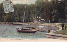 VERSAILLES 43 LL jardin la flotille du canal timbrée 1906