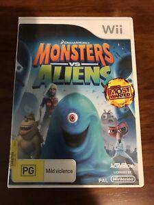 Monster V Aliens Wii Game