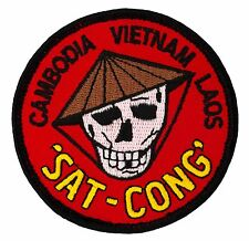 """Vietnam """"Sat-Cong"""" Patch (335) 3"""" Round Embroidered Patch 25231"""