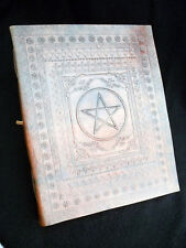 PENTACLE Pagan Wicca Handmade Leather ALTAR BOOK Grimoire Book-of-Shadows