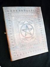 PENTAGRAM Pagan Wicca Handmade Leather ALTAR BOOK Grimoire Book-of-Shadows