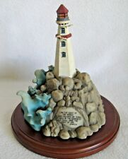 Lenox Lighthouse Of Inspiration 2000 John 8:12 Wooden Base