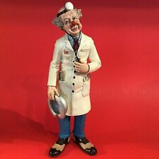 """CLOWN DOCTOR FIGURINE """"JUST CLOWNIN"""" HAND DECORATED 1985  13 1/2"""" JUDIES PASTIME"""
