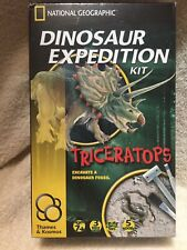NATIONAL GEOGRAPHIC Dino Fossil Dig Kit – Excavate Fossils Triceratops
