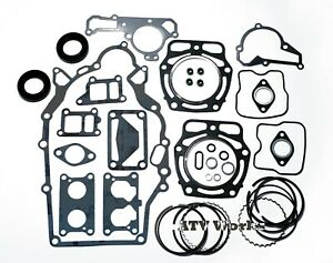 John Deere FD620 FD661 Engine Gasket Rebuild Kit w/ Oil Seals & Standard Rings