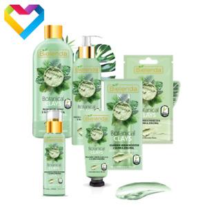 Bielenda Botanical Clays GREEN CLAY Skin Care For Combination Oily Skin - CHOOSE