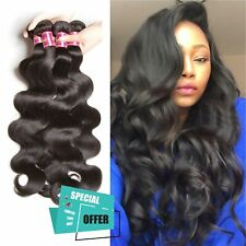 Deluxe Natural beautiful 100% Remy Human Hair Extensions Skin Weft Black REAL