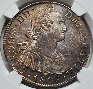 8 Reales 1808 MO TH Carlos IIII HISPAN Mexico Colonial MS62 / NGC Highly Grade!