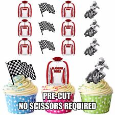 PRECUT Glasgow Tigers Speedway Edible Cupcake Topper Cake Decorations