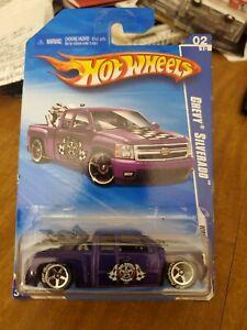 2010 Hot Wheels Purple Chevy Silverado HW Garage