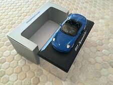 PORSCHE OFFICIAL DEALER 911 997 SPEEDSTER IN BLUE MINICHAMPS 1/43rd NIB 2011