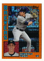 CHRISTIAN YELICH 2019 TOPPS SILVER PACK ORANGE REFRACTOR #23/25 BREWERS