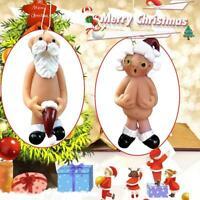 Nackte Weihnachtsmann freche Puppe Weihnachtsbaum hängende Dekoration