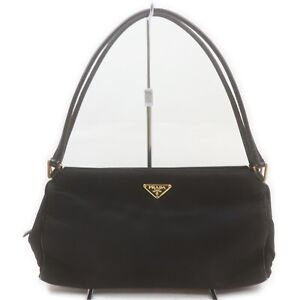 Prada Hand Bag  Black Nylon 2402010