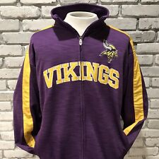 Minnesota Vikings NFL Full Zip Mock Neck Sweatshirt Mens XL Tall XLT
