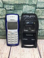 NOKIA 1100B TYPE:RH-36 CELL PHONE. Blue/Silver Vintage Bar Brick Cell Phone Used