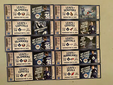 Set # 2 - 10 Toronto Maple Leafs Ticket Stubs 2009/10 Season