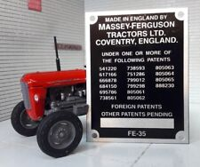 Massey Ferguson Standard FE35 35 35X Tractor Commission Plate 16 Patent 1958-64