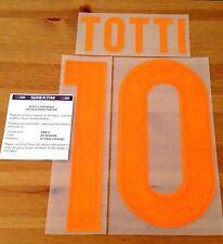 Camisa casa niños como Roma 2015-16 Totti #10 conjunto de número de nombre oficial stilscreen
