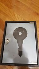 Metal Box Key holder with  20 key hooks and glass front