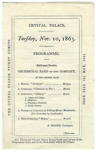 1863 Crystal Palace concert programme Sydenham & Nadar's Geant Balloon