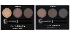 COLLECTION Incredibrow Eyebrow Kit 3 Powder Shades Clear Brow Gel Mascara &Brush