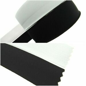 38MM Flat Woven corded Elastic in Black & White for Cuffs,Tailoring & Dressmakin