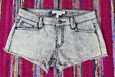 BCBGeneration Womens Size 23 Acid Wash Distressed Cut Off Denim Shorts