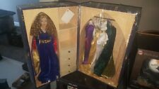 """Franklin Mint Guinevere Vinyl Portrait Doll 16"""" Rare MIB With Royal Crown!"""