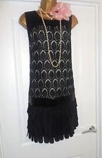 Principles 1920s Style Flapper Gatsby Charleston Fringe Tassel Dress Size 16