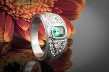 Schmuck Perfekter Smaragd Emerald Cut mit Top Brillanten 1a gefasst in Platin