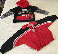 Disney Cars Hoodie Sweater & NFL Bucs Jacket Toddler Boy Size 2T