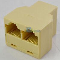 NEW RJ45 1 Port to 2 Port LAN Ethernet Network Cable Splitter Extender Adapter