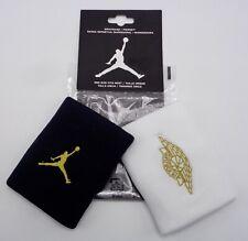Nike Jordan Wings Wristbands Black/Metallic Gold Men's Women's