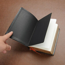Classic Leather Cover Thick Blank Pages Notebook Diary Sketchbook Notepad