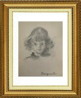 CHARLES WISLIN (1852-1932) PORTRAIT DE JEUNE FILLE VERS 1880 (1176)