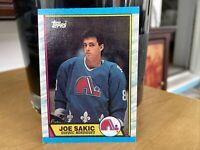 Joe Sakic 1989 Topps Rookie Card #113 Quebec Nordiques
