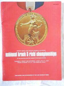 1977 Natl AAU ChsTrack Field Athletics Men Women Moses Ashford Malley Athletisme
