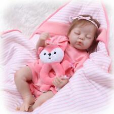 "20"" Reborn Baby Dolls Real Lifelike Newborn Doll Baby Sleeping Girl Kids Gifts"