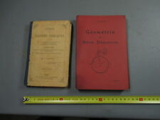 Lote de 2 antiguo libros escuela geometría griego