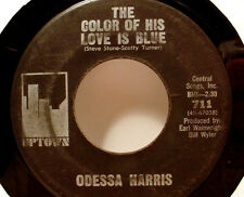 "ODESSA HARRIS - Color Of His Love (Uptown) - '65 blues soul - 7""/45rpm - LISTEN"
