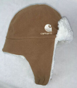 Carhartt Infant Toddler Baby Winter Hat Sherpa Tan Warm Spring Soft Outdoors
